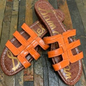 SAM EDELMAN Orange Bay Cutout Slide Sandal Size 9